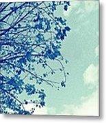 Blue Branches Metal Print