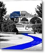 Blue Brick Path Metal Print by   Joe Beasley