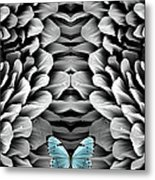 Blue Butterfly And Antenna Metal Print
