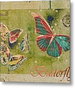 Blue Butterfly Etc - S55ct01 Metal Print