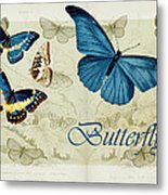 Blue Butterfly - S01a Metal Print