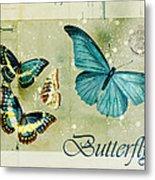 Blue Butterfly - S55c01 Metal Print