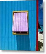 Blue Cabin Metal Print by Randall Weidner
