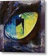 Blue Cat Eye Metal Print
