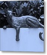 Blue Cat Metal Print