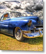 Blue Chevy Deluxe - Hdr Metal Print by Phil 'motography' Clark