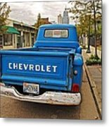 Blue Chevy Tailgate Metal Print