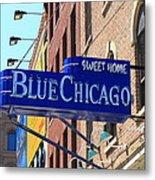 Blue Chicago Club Metal Print