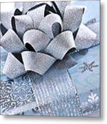 Blue Christmas Gift Metal Print by Elena Elisseeva