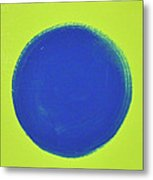 Blue Circ Metal Print