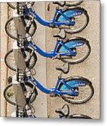 Blue City Bikes Metal Print