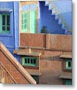 Blue City, Jodhpur, India Metal Print