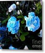 Blue Carnations Metal Print