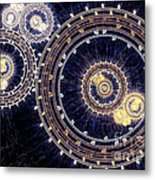 Blue Clockwork Metal Print
