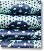 Blue Cloth Metal Print