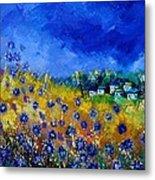 Blue Cornflowers 774180 Metal Print