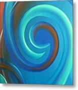 Cosmic Swirl By Reina Cottier Metal Print