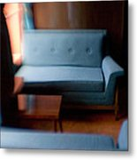 Blue Couch Starlite Lounge Metal Print