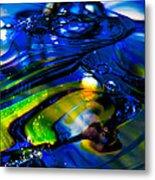Blue Crystal Metal Print