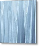 Blue Curtain Metal Print
