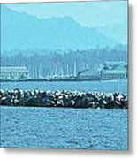 Blue Customs Metal Print