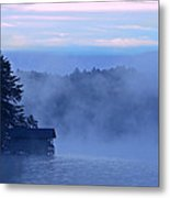 Blue Dawn Mist Metal Print by Susan Leggett