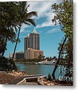 Blue Diamond Condos Miami Beach Metal Print