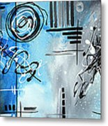 Blue Divinity By Madart Metal Print