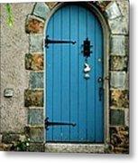 Blue Door In Baltimore Metal Print