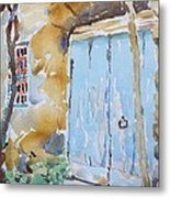 Blue Door Sorrento Metal Print
