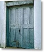 Blue Doors On Brewer Street Metal Print