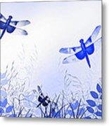 Blue Dragonfly Art Metal Print