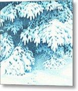 Blue Metal Print by Elizabeth Dobbs