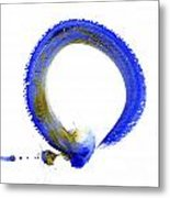 Blue Enso Metal Print