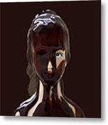 Blue Eye Of A Chocolate Doll Metal Print