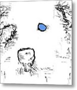 Blue Eyed Pup Metal Print
