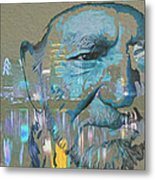 Blue Eyes Cryin' Metal Print