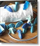 Blue Fish Mini Soap Metal Print