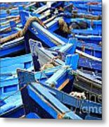 Blue Fishing Boats Metal Print
