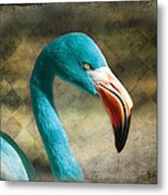 Blue Flamingo Metal Print