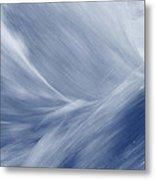 Blue Flow Metal Print