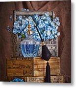 Blue Flower Still Life Metal Print
