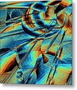Blue Flowpaper Solarized Metal Print