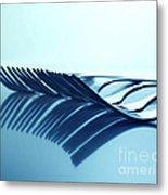 Blue Forks Metal Print