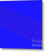 Blue Fourteen Metal Print