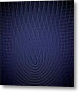 Blue Fractal Background Metal Print
