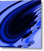 Blue Fractal Metal Print