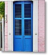 Blue Front Door New Orleans Metal Print