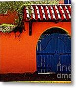Blue Gate In Santa Fe Metal Print