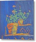Blue Geranium Metal Print by Marcia Meade